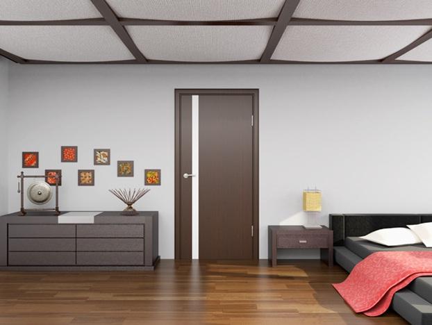 Межкомнатные двери венге фото в интерьере